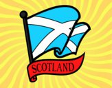 Desenho Bandeira da Escócia pintado por Cello