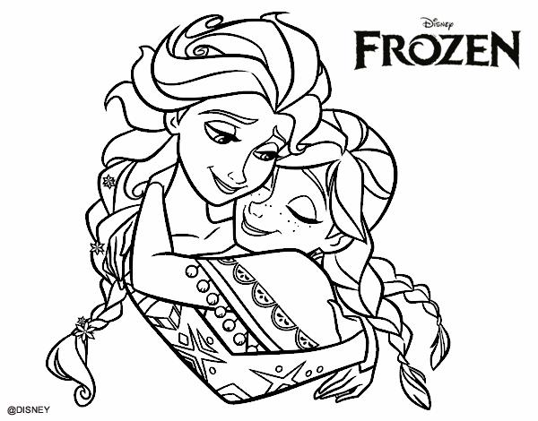 desenho de frozen elsa e anna pintado e colorido por usuário não