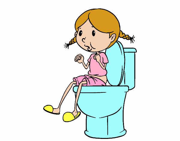 Desenho de Usar o banheiro pintado e colorido por Usuário não registrado o di -> Banheiro Feminino Desenho