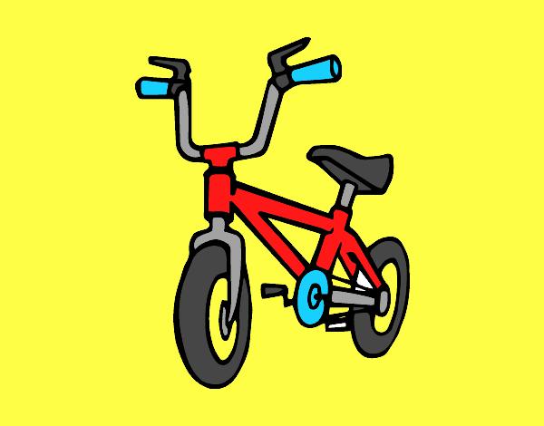 Desenho de Bicicleta infantil pintado e colorido por Pedrohenr o dia