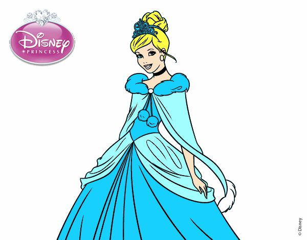 desenho de cinderela princesa cinderela pintado e colorido por
