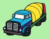 Desenho Caminhão betoneira pintado por Shibatta
