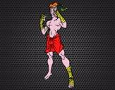 Lutador de Muay Thai