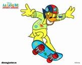 Pato Donald em patim