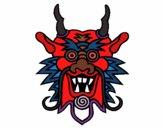 Desenho Cara de dragão pintado por Doarda