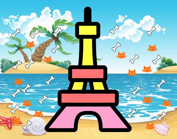 Desenho De Torre Pintado E Colorido Por Sophiaciar O Dia