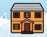 Desenho Casa con dois pavimenti pintado por ImShampoo