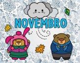 Desenho Novembro pintado por ImShampoo