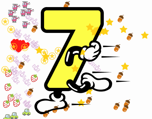 Desenho de n mero 7 pintado e colorido por usu rio n o for Numero deputati alla camera