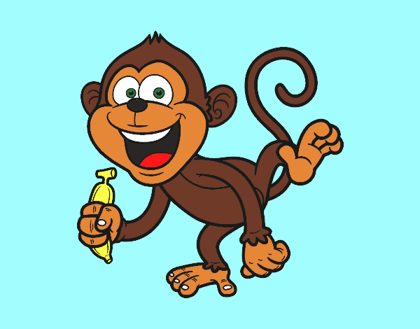 Desenho De Macaco-prego Pintado E Colorido Por Usuário Não