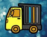Desenho Caminhão pequeno pintado por RosseliBre