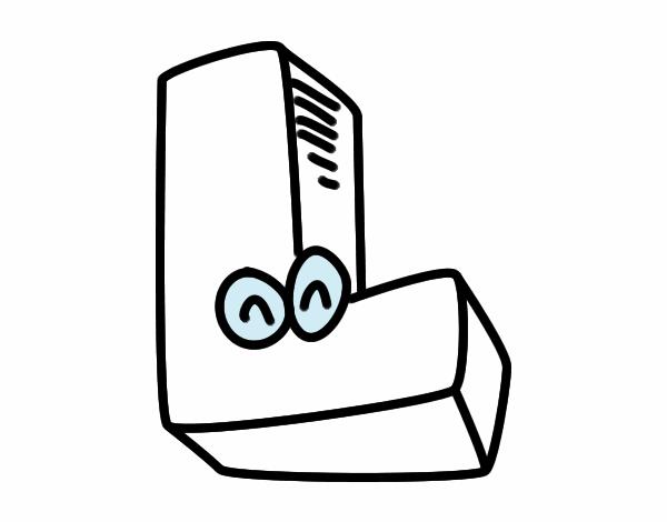 Desenho De Letra L Pintado E Colorido Por Usuário Não