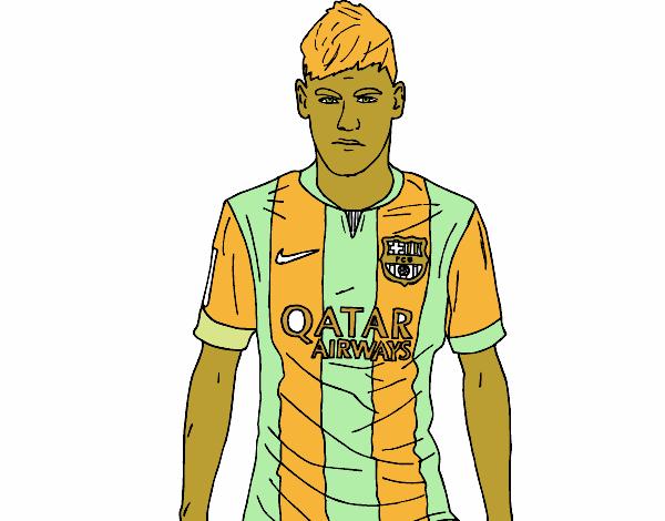Desenho De Neymar Jr Para Colorir: Como Desenhar O Neymar