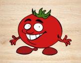 Desenho Senhor tomate pintado por ImShampoo