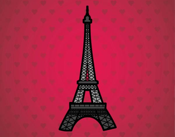 Desenho De Torre Eiffel Pintado E Colorido Por Danguinha O