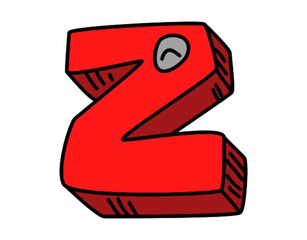Desenho De Letra Z De Zoológico Para Colorir: Desenho De Letra Z Pintado E Colorido Por Usuário Não