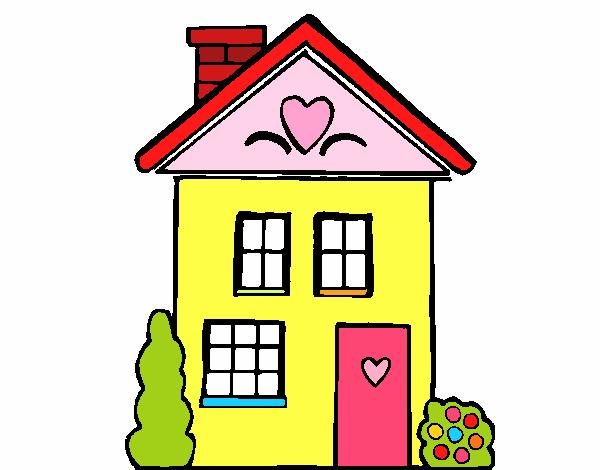 Desenho de casa con cuori pintado e colorido por usu rio for Disegni di casa e planimetrie