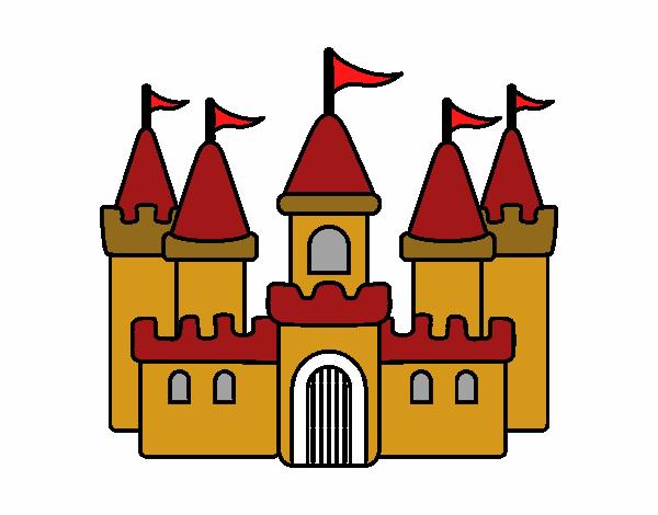 Desenho de castelo lindo pintado e colorido por Usuário ...