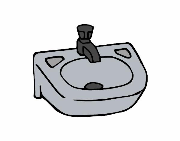 Imagens De Banheiro Para Colorir : Desenho de pia pintado e colorido por usu?rio n?o