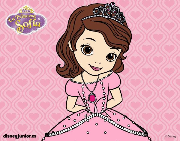 desenho de princesinha sofia pintado e colorido por carolina11 o dia