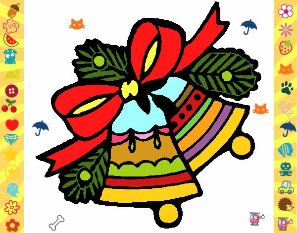 Desenho De Sinos De Natal Pintado E Colorido Por Usuário