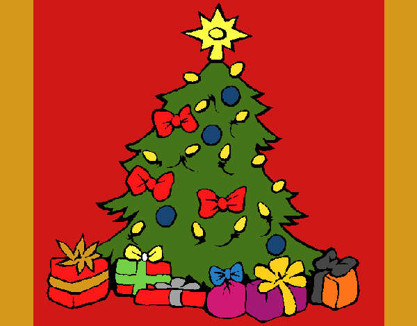 Imagens De Arvore Para Imprimir: Desenho De Árvore De Natal Pintado E Colorido Por Usuário