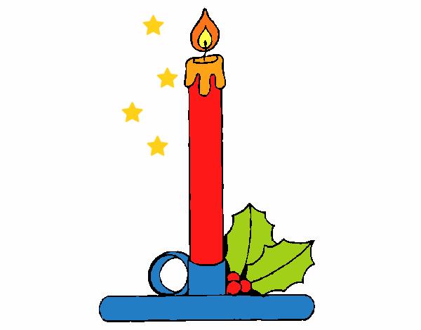 Desenho De Vela De Natal Pintado E Colorido Por Usuário