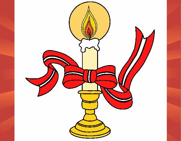Desenho De Vela De Natal II Pintado E Colorido Por Usuário