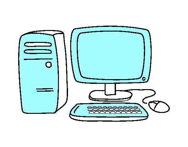 Desenho De Biblioteca Para Colorir: Desenho De Computador 3 Pintado E Colorido Por Biblioteca