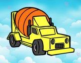Desenho Caminhão batoneira pintado por luzinda