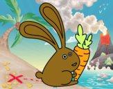 Coelho com cenoura