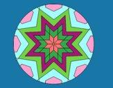 Mandala mosaico estrela