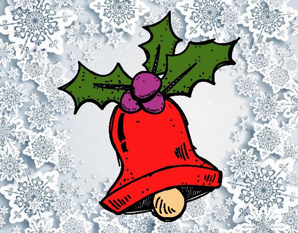 Desenho De Un Sino De Natal Pintado E Colorido Por Usuário