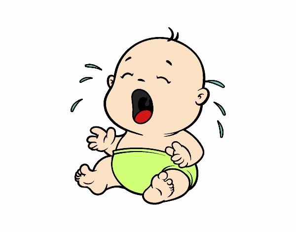 desenho de beb chorando 1 pintado e colorido por usurio no registrado o dia 04 de dezembro do 2015
