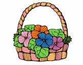Desenho Cesta de flores 6 pintado por tissamatos
