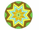 Desenho Mandala mosaico estrela pintado por iyacfox1