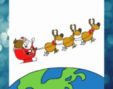 Pai Natal a distribuir presentes 3