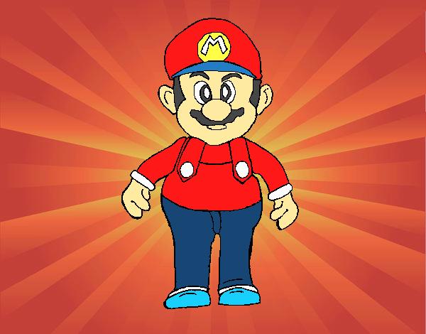 Desenho De Mario Pintado E Colorido Por Usuário Não