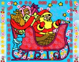 Pai Natal no seu trenó