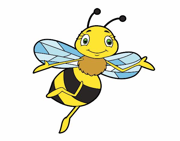 desenho de abelha infantil pintado e colorido por usuário não