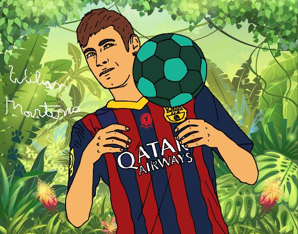 Desenho De Neymar Barça Para Colorir Colorir Com