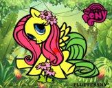 Desenho Fluttershy pintado por yasmanu