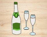 Champanha e taças