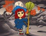 Fantasia de bruxa de Halloween