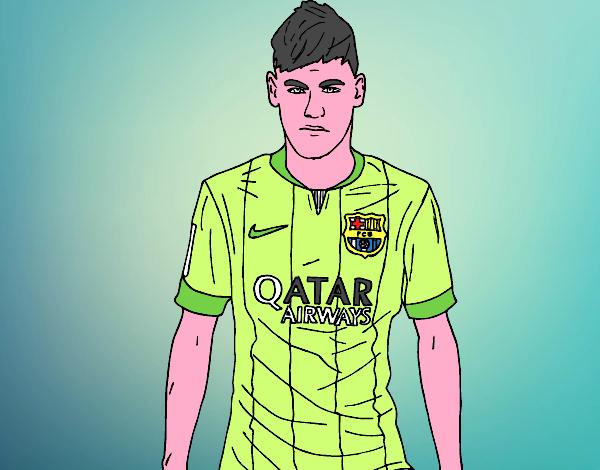 Desenho De Neymar Jr. Pintado E Colorido Por Usuário Não