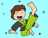 Saltar e pontapé