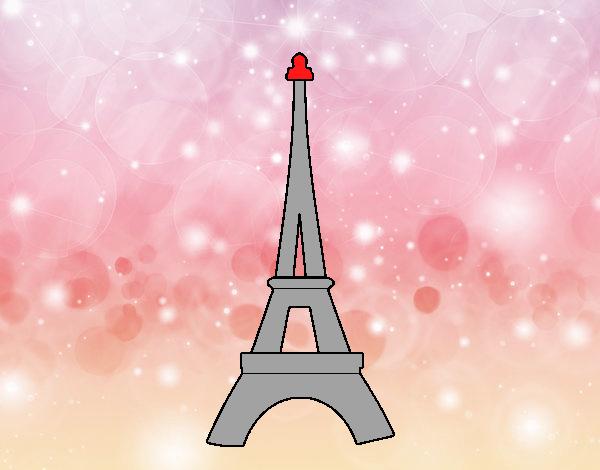 Desenho De Torre Eiffel Pintado E Colorido Por Usuário