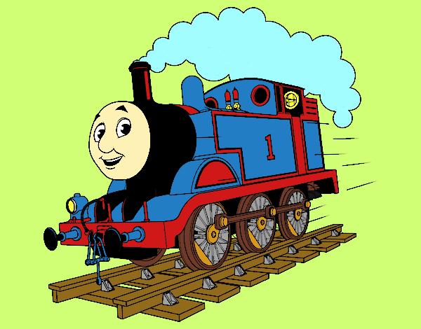 Desenho De Thomas A Locomotiva 1 Pintado E Colorido Por
