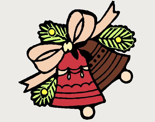 Desenho De Sinos De Natal Pintado E Colorido Por Tyanca O