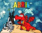 Desenho Abril pintado por Danieledan